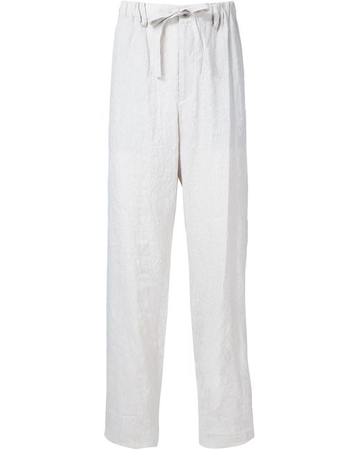 Issey Miyake | Мужское Nude & Neutrals Creased Straight Trousers