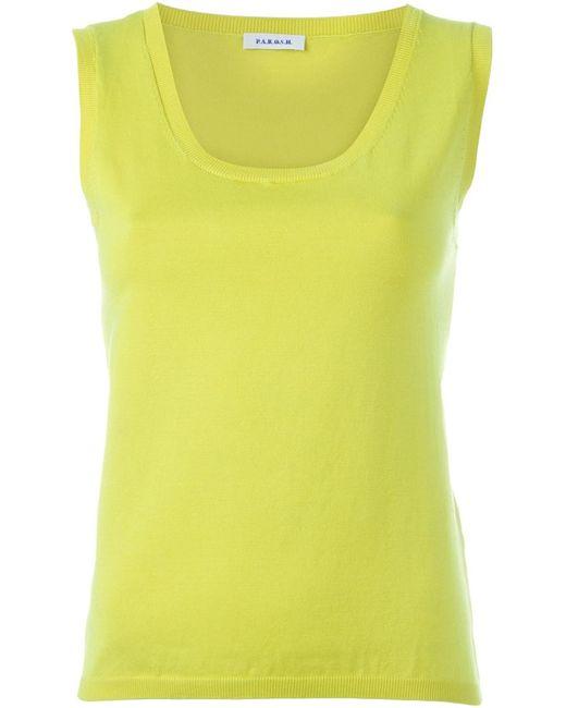 P.A.R.O.S.H. | Женское Желтый Knit Tank Top