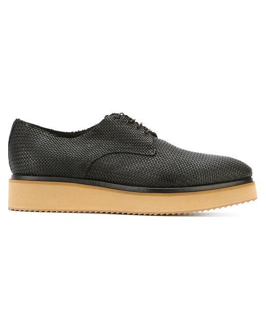Raparo | Мужское Чёрный Contrasting Sole Lace-Up Shoes