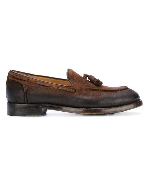 Eleventy   Женское Коричневый Tassel-Embellished Loafers