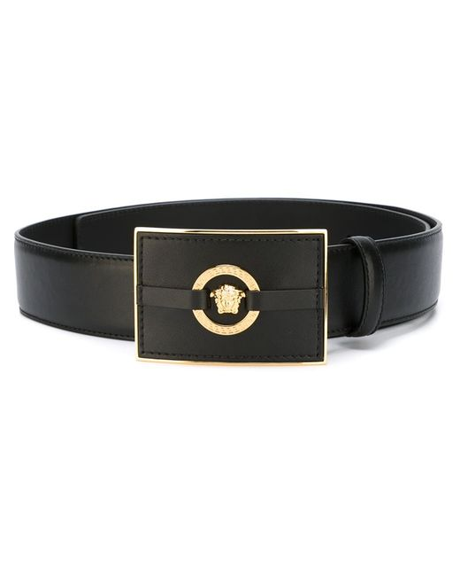 Versace | Мужское Чёрный Medusa Rectangular Belt