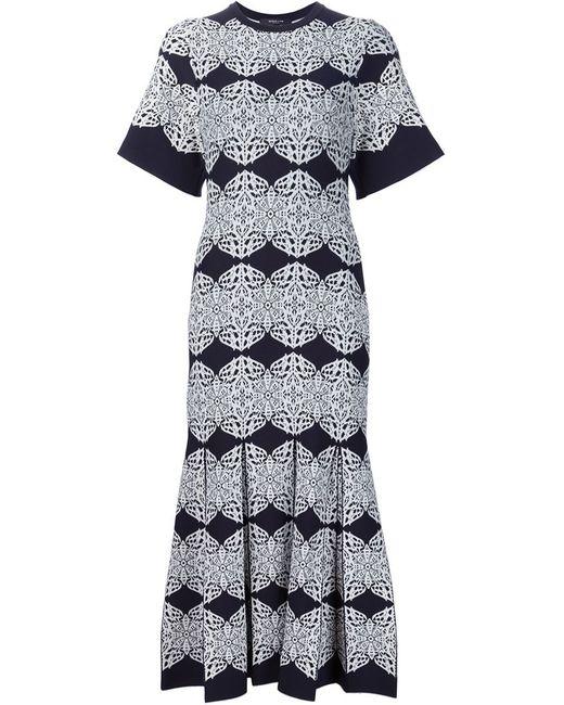 Derek Lam | Женское Чёрное Трикотажное Платье С Узорами И Складками