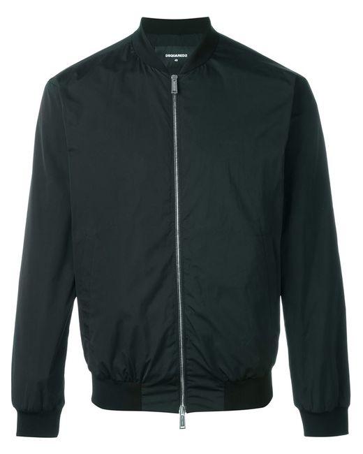 Dsquared2 | Мужская Чёрная Классическая Куртка-Бомбер