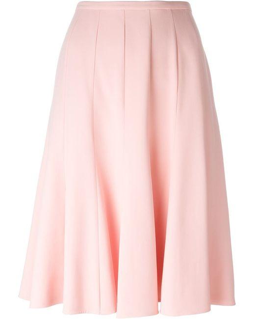 Ermanno Scervino   Женская Розовая Плиссированная Юбка