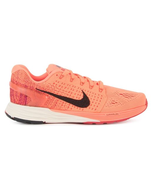 Nike   Женские Жёлтые Кроссовки Lunarglide 7