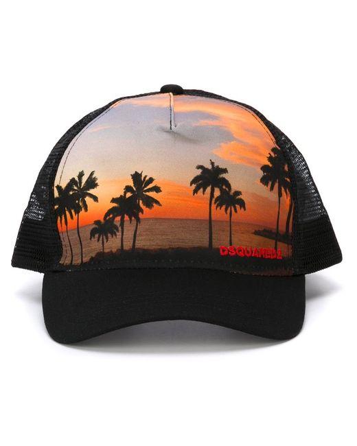 Dsquared2   Мужское Чёрный Palm Tree Baseball Cap