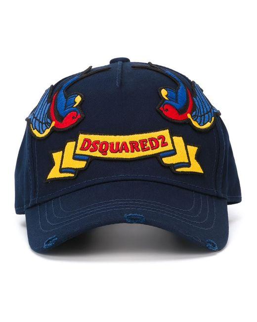 Dsquared2 | Мужское Синий Embroidered Patch Cap