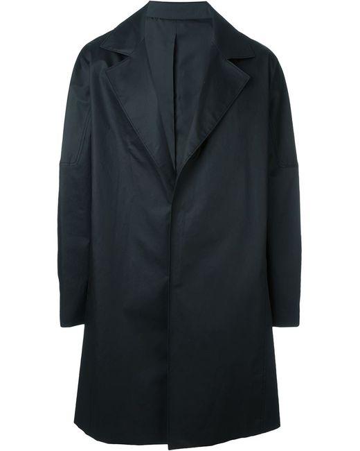 SYSTEM HOMME | Мужское Чёрный Wide Lapel Coat