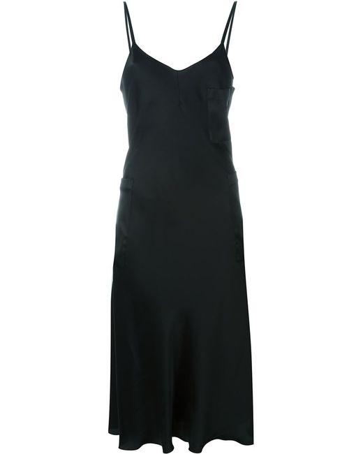 MM6 by Maison Margiela | Женское Чёрное Платье На Тонких Лямках-Спагетти