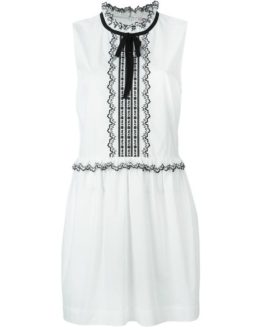 Red Valentino | Женское Белый Embroidered Semi-Sheer Dress