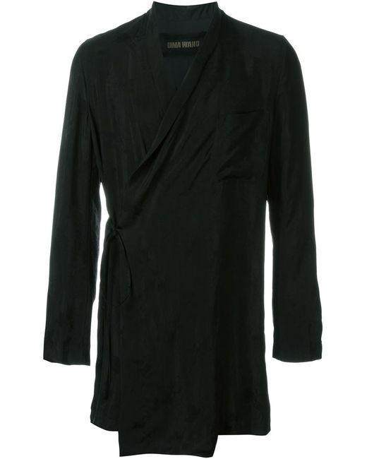 UMA WANG   Мужское Чёрный Kimono Long Giacomo Jacket