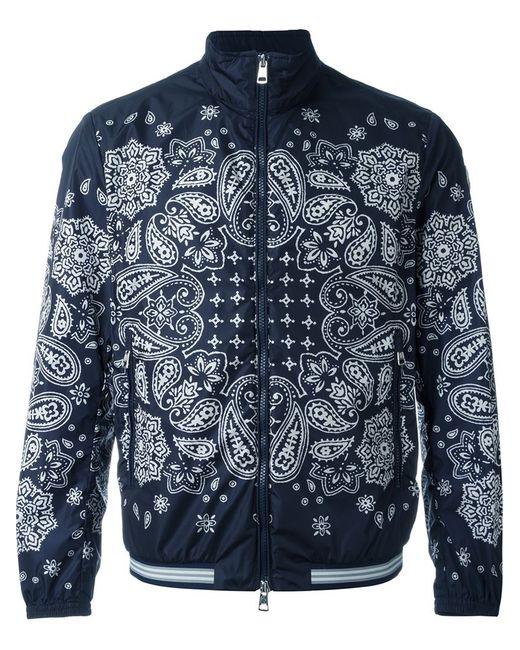 Moncler | Мужское Синий Paisley Print Windbreaker Jacket