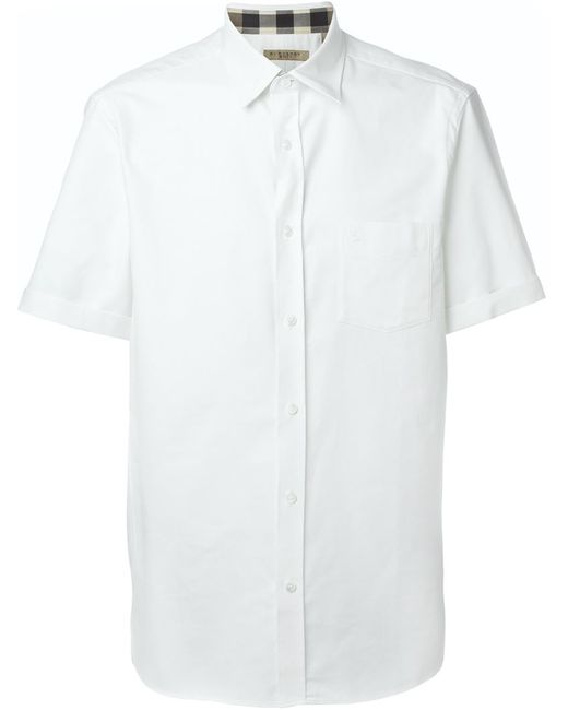 Burberry Brit | Мужское Белый Shortsleeved Shirt