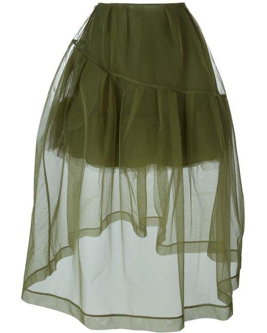 Simone Rocha | Женское Зелёный Petticoat Sheer Trim Detail Skirt