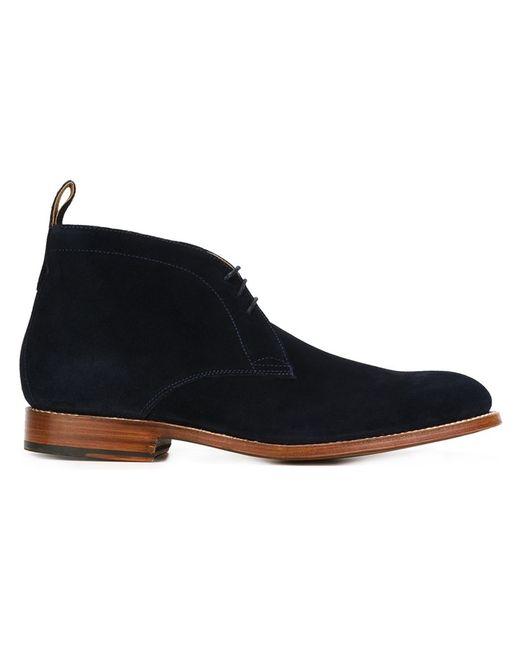 Grenson | Мужские Синие Ботинки Marcus