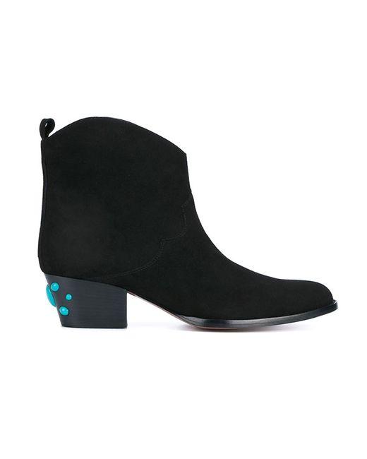 Aquazzura   Женские Чёрные Ботинки Cowboy