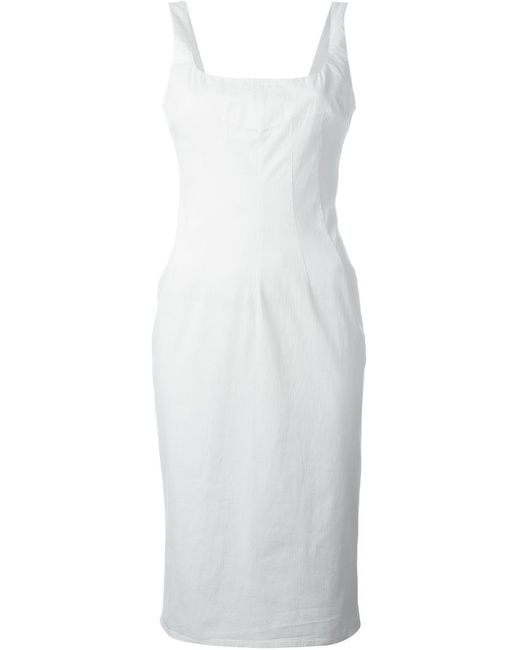Dolce & Gabbana   Женское Белый Fitted Midi Dress