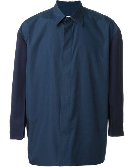 Marni   Мужская Синяя Рубашка-Блейзер