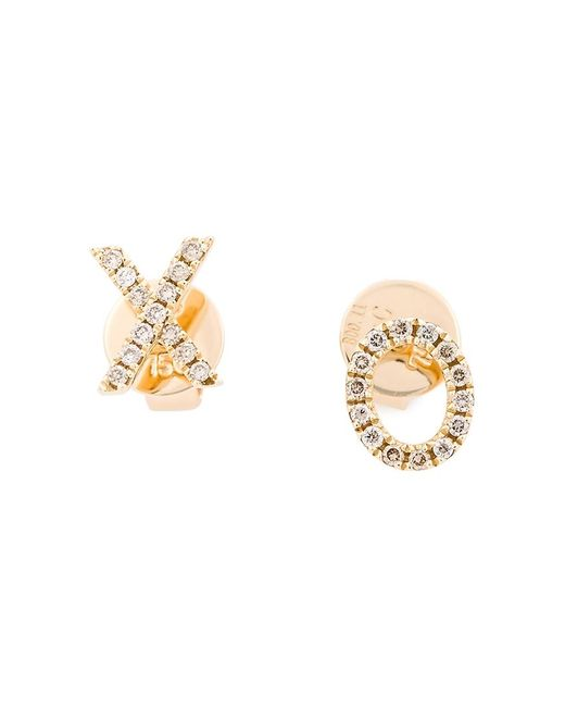 ROSA DE LA CRUZ | Женское Серебристый Xo Diamond Earrings