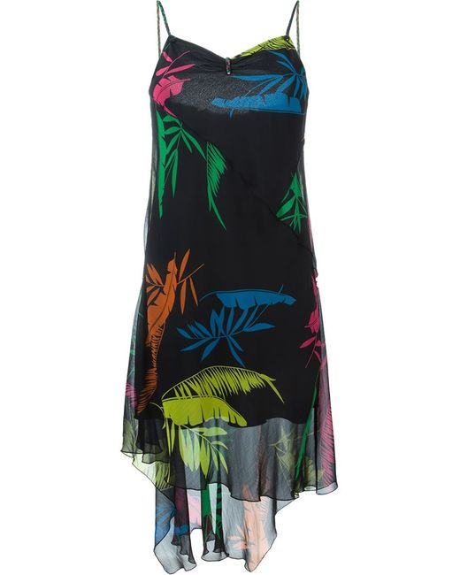 Diesel   Женское Чёрный Tropical Print Dress