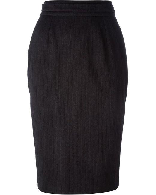 Dolce & Gabbana | Женское Серый Striped Pencil Skirt