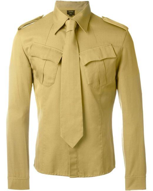 JEAN PAUL GAULTIER VINTAGE   Зелёный Tie Detail Military Shirt
