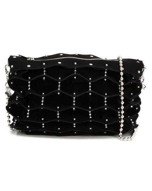 Comme Des Garcons   Женское Чёрный Studded Folded Shoulder Bag