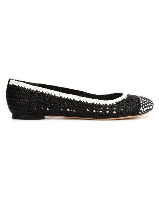 Alexander McQueen | Женское Чёрный Woven Ballerina Shoes