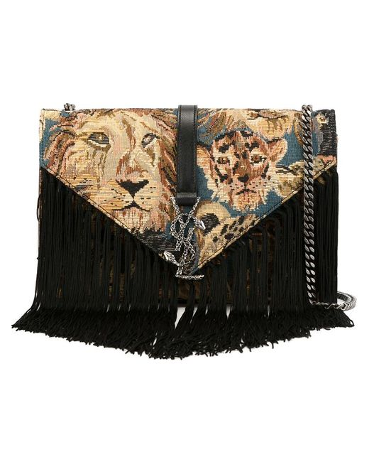 Saint Laurent   Женское Чёрный Monogram Shoulder Bag