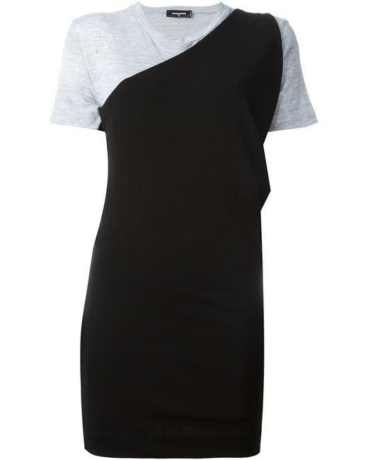 Dsquared2   Женское Чёрное Платье-Футболка