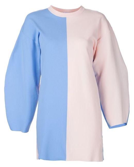 Arthur Arbesser   Женское Синее Платье С Закругленными Широкими Рукавами