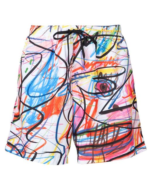 Jeremy Scott | Мужское Белый Scribble Print Swim Shorts