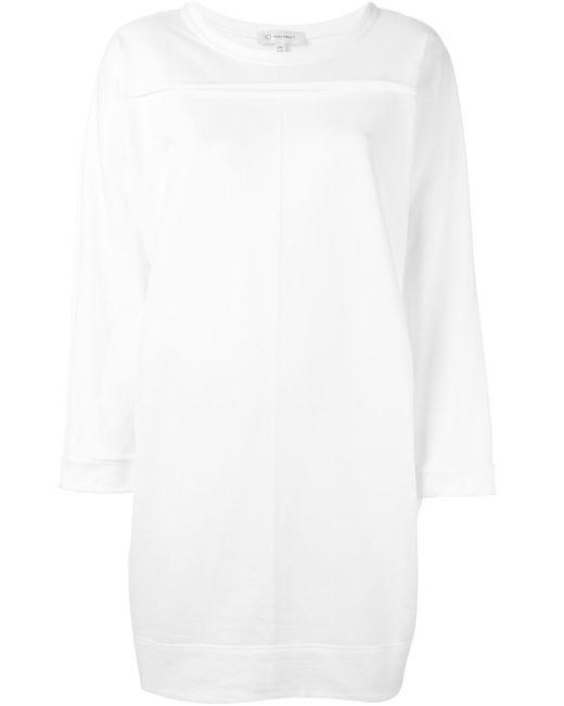 IO IVANA OMAZIĆ   Женское Белое Платье С Круглым Вырезом