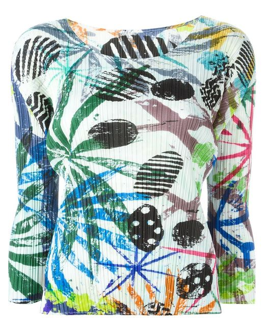 PLEATS PLEASE BY ISSEY MIYAKE | Женское Pleated Printed Top