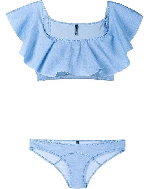 Lisa Marie Fernandez | Женское Синий Mira Bandeau Bikini