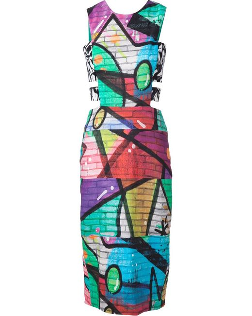 Nicole Miller | Женское Чёрный Grafitti Print Dress