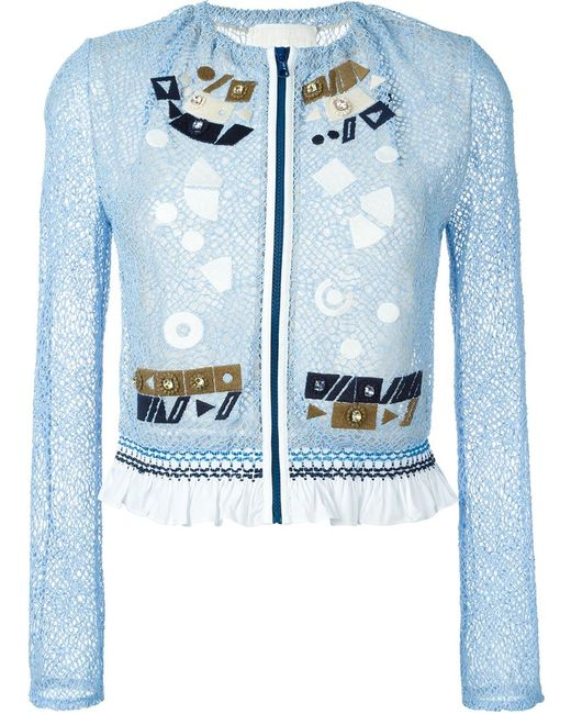 Peter Pilotto | Женское Синий Solar Embroidered Jacket