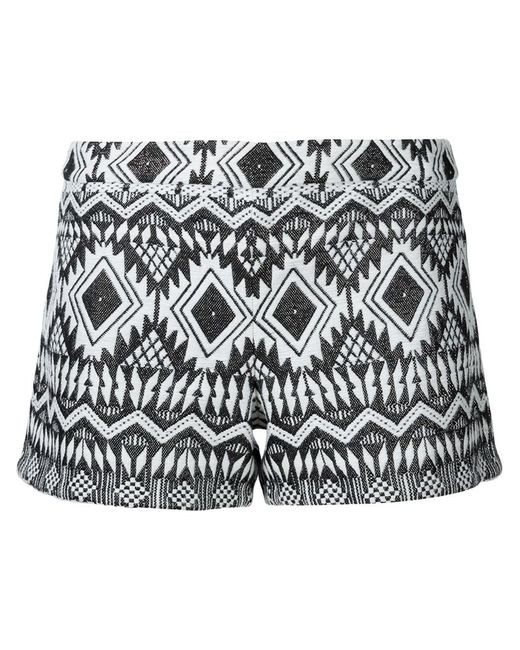 Alice + Olivia | Женское Белый Aztec Patterned Shorts