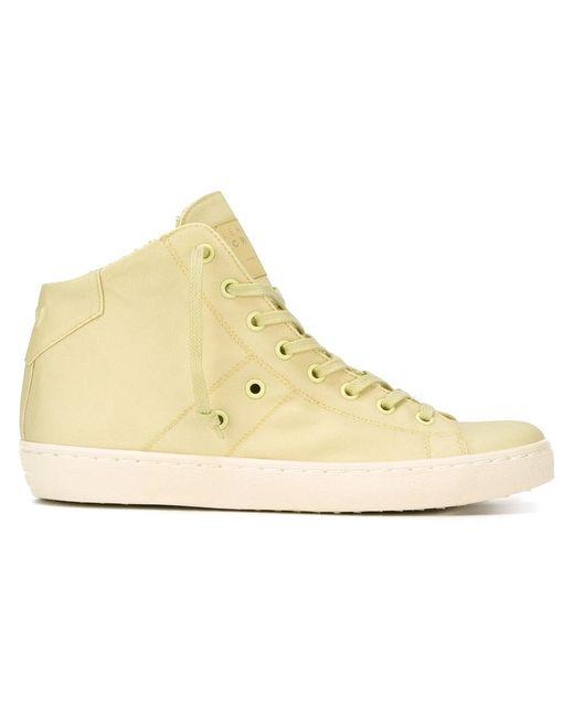 Leather Crown | Женское Желтый Hi-Top Sneakers