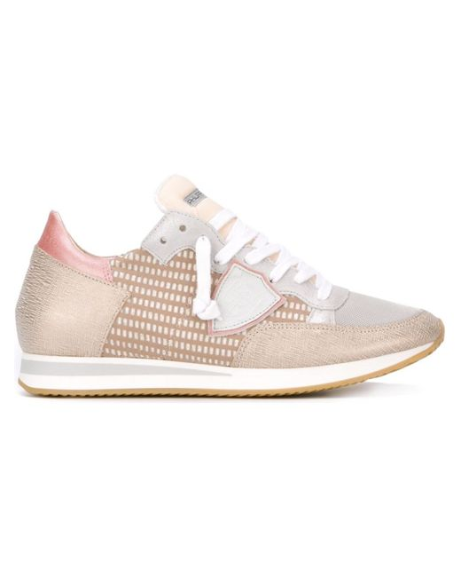 Philippe Model | Женское Nude & Neutrals Lace-Up Sneakers