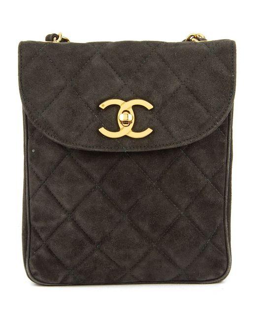 Chanel Vintage | Женская Серая Сумка На Плечо С Цепочной Лямкой