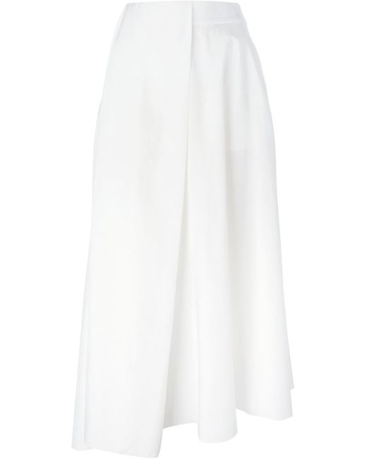 Emporio Armani   Женское Белый Asymmetric Hem Skirt