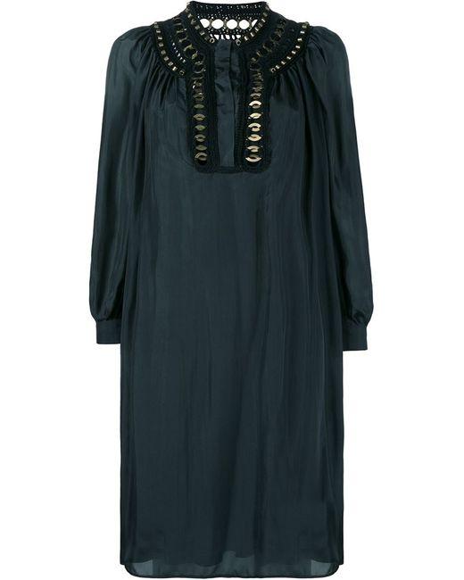 Alberta Ferretti   Женское Чёрный Embellished Silk Dress