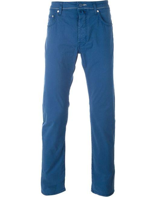 Jacob Cohёn | Мужское Синий Casual Trousers