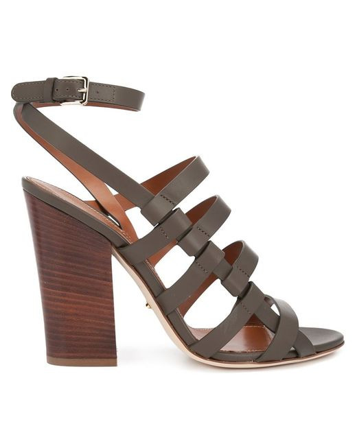 Sergio Rossi   Женское Зелёный Strappy Sandals