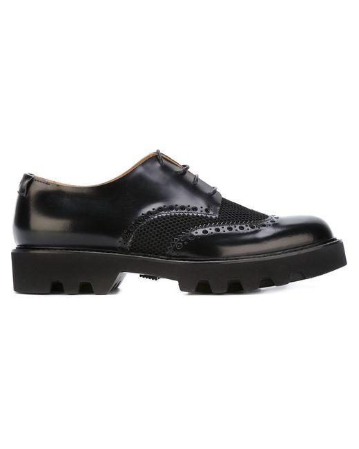 Emporio Armani   Мужские Чёрные Перфорированные Туфли