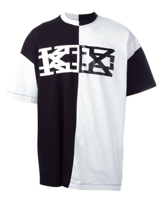 Ktz | Женская Белая Футболка Колор-Блок