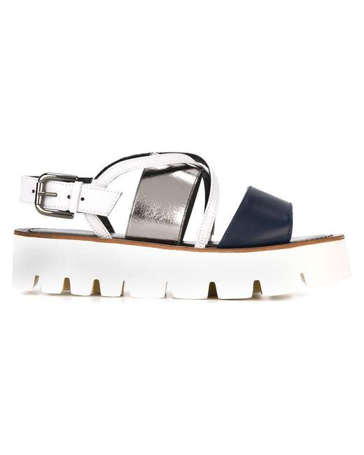 Pollini | Женское Синий Flatform Sandals