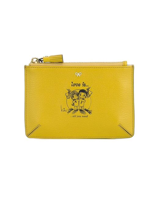 Anya Hindmarch | Женское Желтый Love Is Small Leather Pouch