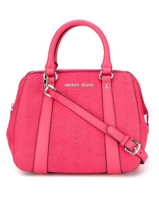 ARMANI JEANS   Женское Розовый Large Top Zip Crossbody Bag
